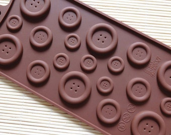 Buttons silicone mold for chocolate or candy mold tray DIY