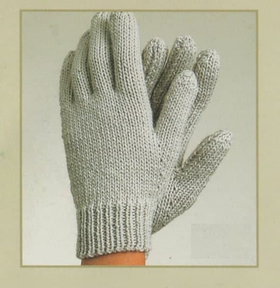 Knitting Pattern Fingerless Mittens Two Needles : PDF Knitting Pattern / Gloves, Fingerless Gloves and Mittens/ 3 in 1 pattern ...