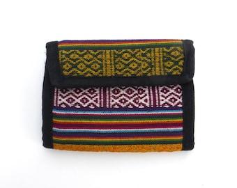 Velcro Wallet Vintage 1990s guatemala Hippie India