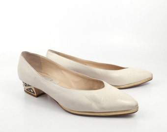 Di Sandro Heels Vintage 1980s White Made in Italy Heels size 39 B