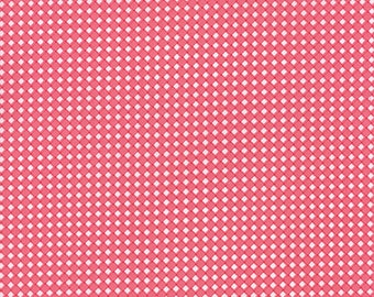 Fabric - Pedal Pushers Pink Diagonal Plaid by Lauren & Jessi Jung for Moda - Yardage - 25088 12