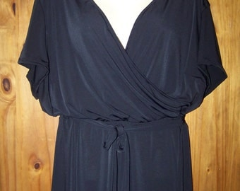 Black Plus Size 3X Dress, Plus Bathing Suit Cover Up, Plus Size Sun Dress, Vacation Cruise, Swimwear Cover Up, Plus Size Dress