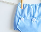 Baby Boy Diaper Covers, Boys Long John Bloomers Photo Prop, Newborn Blue Cotton Bubble Shorts Trousers, Baby Cute Gift Ideas Boy