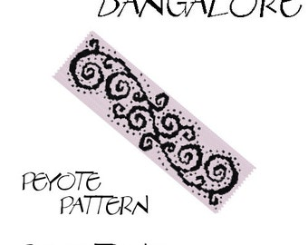 Even Peyote Bracelet Pattern by Extrano - BANGALORE - 2 colors ONLY - Instant download