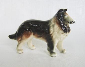 Vintage Collie, Collie Figurine, Vintage Figurine, Dog Figurine, Pocelain Collie, Animal Figurine, Lassie Figurine, Mid Century