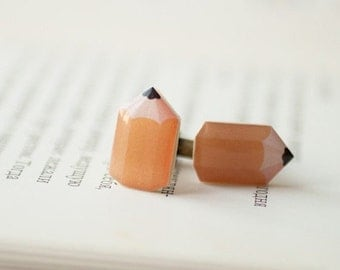 Pencil cufflinks - fun cufflinks (C007)