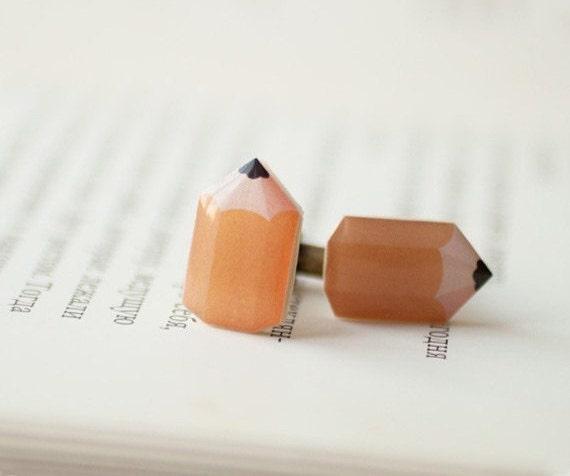 Pencil cufflinks - fun cufflinks (C007)
