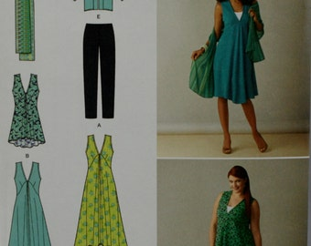 Simplicity 1376 Misses Dress, Jacket, Tunic, Scarf and Leggings Sewing Pattern New / Uncut Size 10, 12, 14, 16, 18