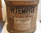 Early Wooden Bucket HYTEMPITE Advertising Bentwood Quigley Company Cement Rustic