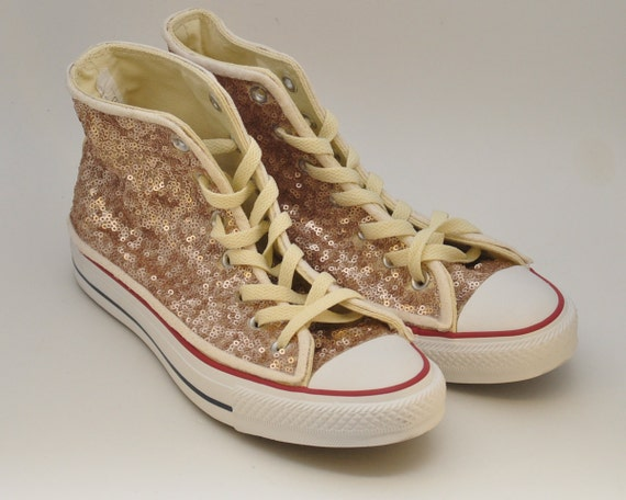 9813ba1ef28 Gold sequin converse - Lookup BeforeBuying