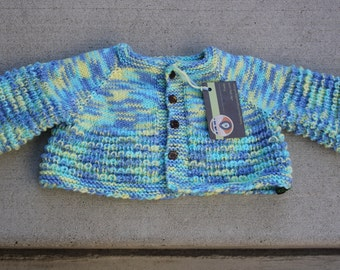 Handmade Knit Super wash merino soft baby cardigan sweater/Hand knit baby sweater /baby cardigan, This listing is for +3 months baby sweater
