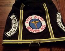 Service Dog Vest PTSD alert dog custom sizes