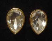 SWAROVSKI crystal Earrings Marked S.A.L.