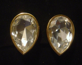 SWAROVSKI crystal Earrings Marked S.A.L.