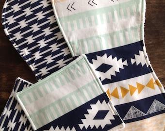 Burp Cloths-Aztec Burp Cloths-Boy Burp Cloths-Arrow Burp Cloth-Burp Clothes-Tribal Burp Cloths-Baby Burp Cloth-Burp Cloth Etsy-Burp Rags