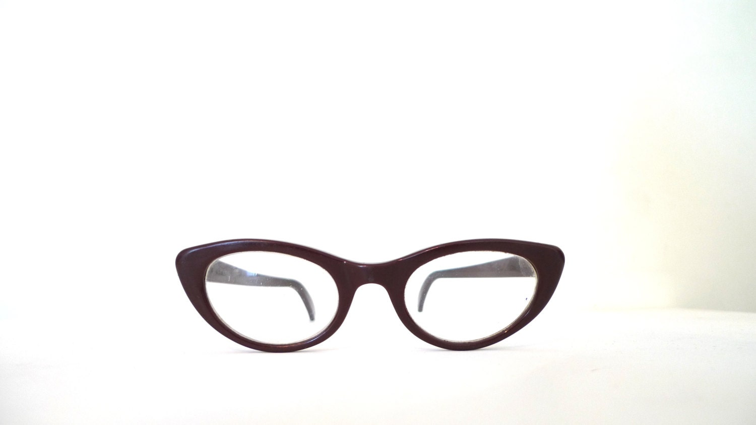 Eyeglass Frame Usa : Cat Eye Glasses Frame USA 46mm lens 20mm bridge 5.5 Inch 1950s