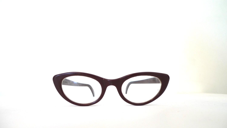 Glasses Frame Bridge : Cat Eye Glasses Frame USA 46mm lens 20mm bridge 5.5 Inch 1950s