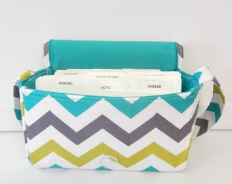 Medium Size Coupon Organizer Holder - Attaches to your shopping cart - Pastel  Lagoon