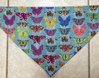 Colorful Butterfly Dog Bandana