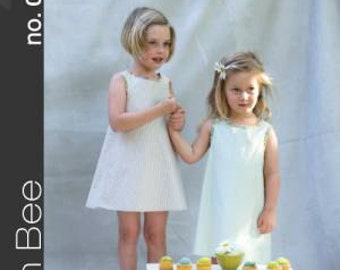 Iris Dress and Leggings Children's Sewing Pattern by Green Bee