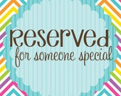 RESERVED Customized Preschool Sign - Pink