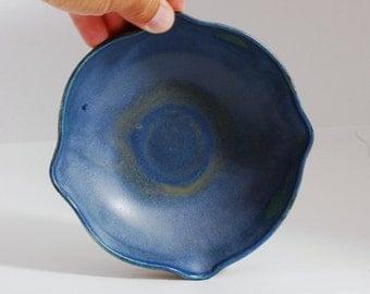 Small Bowl Ceramic Porcelain Blue Bowl