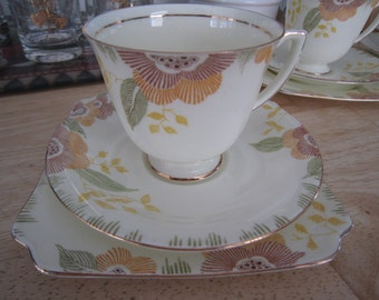 Royal Doulton Art Deco Tea Set Nerissa