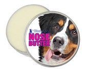 Bernese Mountain Dog ORIGINAL NOSE BUTTER® Organic Balm for Dry, Crusty or Cracked Dog Noses 8 oz Tin with Berner Label in Gift Bag