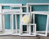 White Frame Collection , Open Frame Gallery for Paris Apartment Decor , Shabby Chic Wedding , Home Decor Wall Hanging