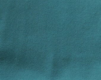 Seafoam - Muted Blue Green Hand Felted Wool Fabric - Hand Dyed - - 100% Wool