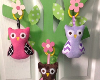 Adorable Squeaky Owl Softy!  Pick one in your favourite colour!