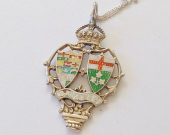 Ontario Necklace, Ontario Souvenir, Ontario Canada, Ontario Jewelry, Ontario Charm, Ontario Gift, Ontario Present, Vintage Ontario