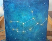 Virgo Constellation Painting 6x6 inches (Reserved for Faith)