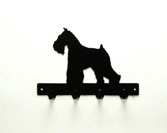 Miniature Schnauzer Dog Metal Art Leash or Key Rack Free USA Shipping
