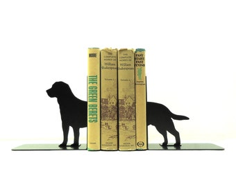 Labrador Retriever Metal Art Bookends - Free USA Shipping