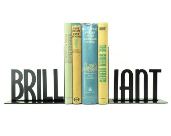 Brilliant Metal Art Bookends - Free USA Shipping