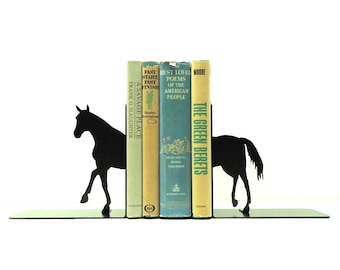 Split Horse Metal Art Bookends - Free USA Shipping