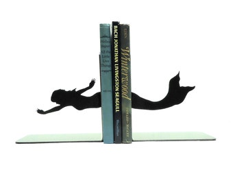 Mermaid Metal Art Bookends - FREE USA Shipping