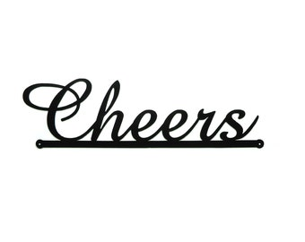Cheers Metal Art Bar Sign Wall Art - Free USA Shipping