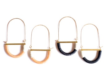 Adamo Earrings- Antique sequins and gold filled hoops