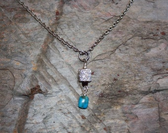 Turquoise Pendant Necklace on Chain