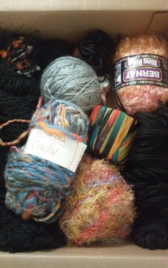 Knitting Items For Sale : Sale mystery box of yarn supplies crochet knitting