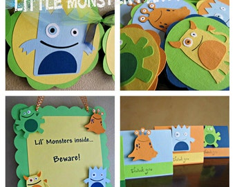 Little Monster Birthday Party Package, Monster Party Package, Monster 1st Birthday Party Pack, Monster Party Decorations, Monster Boy Party