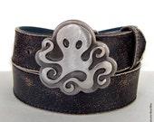 Steampunk Octopus Metal Belt Buckle by WATTO Distinctive Metal Wear - Kraken