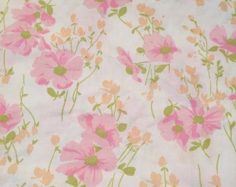 Vintage Twin Floral Sheet - Gorgeous Pinks & Peaches