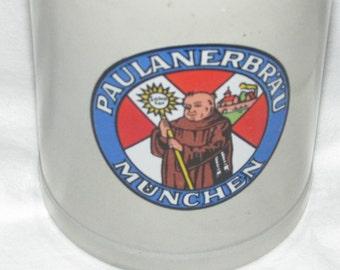 Vintage Advertising German BEER STEIN Mint Paulanerbrau Munchen