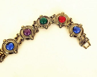 Vintage Bracelet with Rhinestones, Costume Jewelry, Vintage Jewelry, Vintage Accessories, Jewelry Accessories, Casual Bracelet