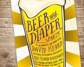 Printable Baby Shower Invitation - Beer and Diaper Party