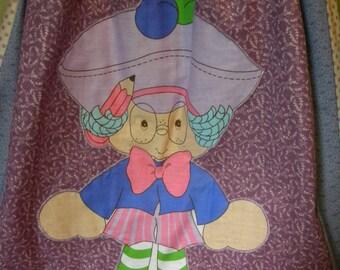 Vintage Strawberry Shortcake Long Hippie Skirt Plum Pudding