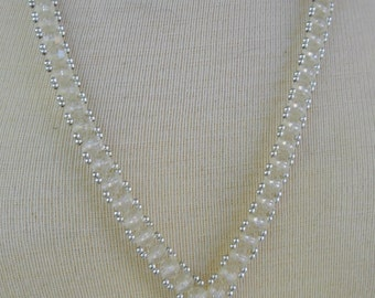 VIntage Crystal Beaded Necklace 1960s